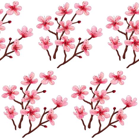 Cherry Blossom fabric by lareieli on Spoonflower - custom fabric
