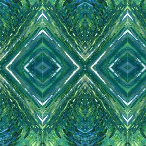 Diamonds in Blue & Green