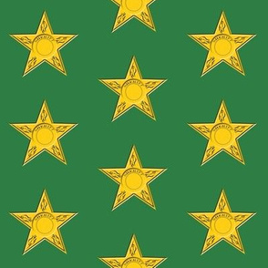 Sheriff Star on Green