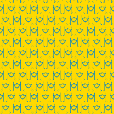 tom_bass-yellow-blue fabric by redmares on Spoonflower - custom fabric