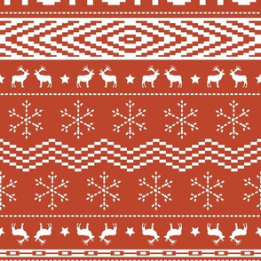 Ugly Christmas Sweater - Red - Large Scale