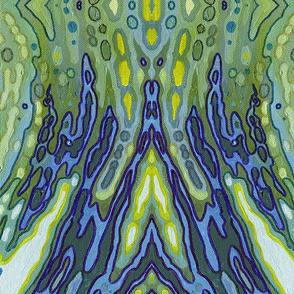 Boho Blue Wallpaper