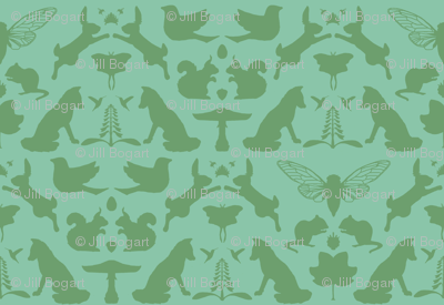 woodland damask larger scale