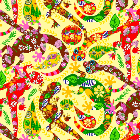 Mellow yellow fabric by orangefancy on Spoonflower - custom fabric