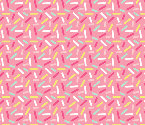 Donut Pink Sprinkles fabric by heatherhightdesign on Spoonflower - custom fabric