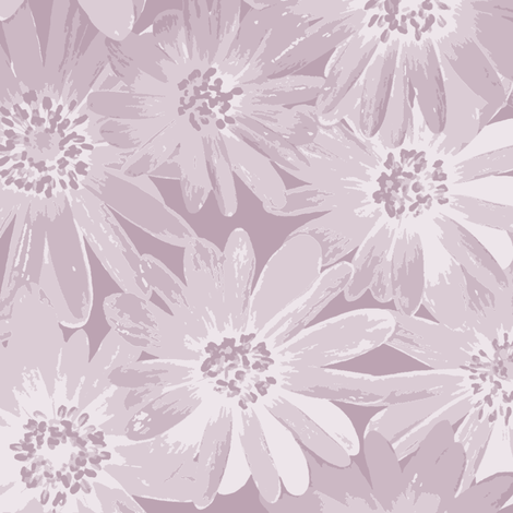 lilac-mauve anenomes fabric by weavingmajor on Spoonflower - custom fabric
