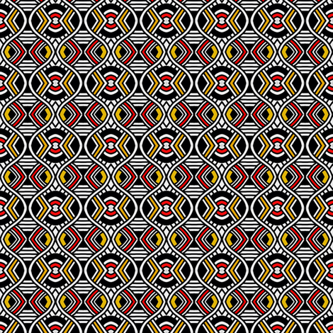 Serpentine Art Deco Targets fabric by eve_catt_art on Spoonflower - custom fabric