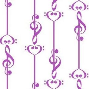 3 Music Arrows - Purple