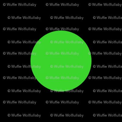 Polka Dots - 1 inch (2.54cm) - Light Green (#3ad42d) on Black (#000000)