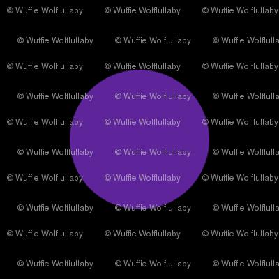 Polka Dots - 1 inch (2.54cm) - Dark Purple (#5E259B) on Black (#000000)