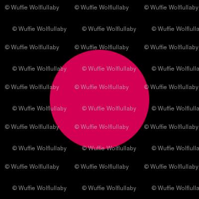 Polka Dots - 1 inch (2.54cm) - Pink  (#d30053) on Black (#000000)
