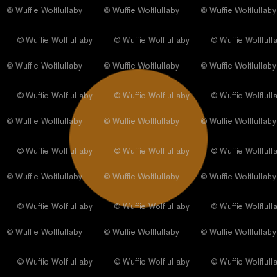 Polka Dots - 1 inch (2.54cm) - Brown (#995e13) on Black (#000000)