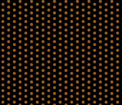 Polka Dots - 1 inch (2.54cm) - Brown (#995e13) on Black (#000000)  fabric by elsielevelsup on Spoonflower - custom fabric