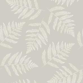 white ferns on hazel grey