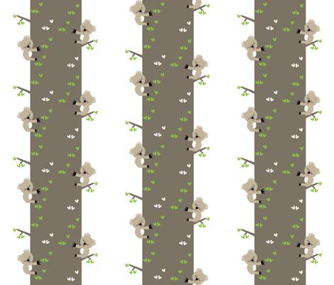 Koala Trees fabric by halfpinthome on Spoonflower - custom fabric