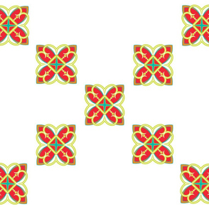 Asian_Pattern_Cross Red