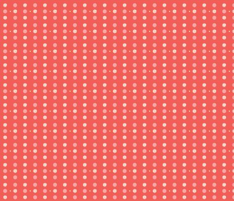 Peachy Circles fabric by ckgtw on Spoonflower - custom fabric