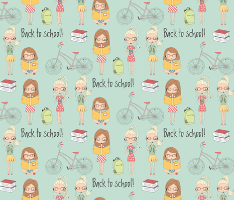 Back to school fabric by bluelela on Spoonflower - custom fabric