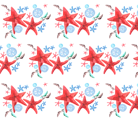 Starfish Cluster fabric - christina_rowe - Spoonflower