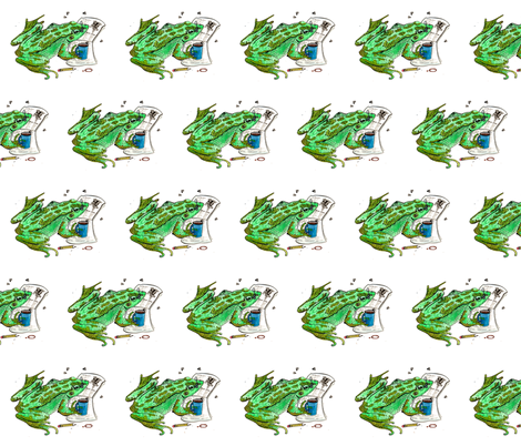 Reading Frog fabric by christina_rowe on Spoonflower - custom fabric