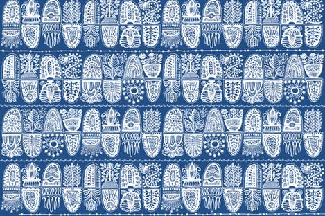 kuperad, blue&white 27 fabric by lisaekström on Spoonflower - custom fabric