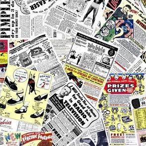 vintage comic book ads - LARGE PRINT
