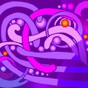 Purple Butterfly Blue Dot