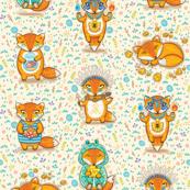 cute cartoon foxes