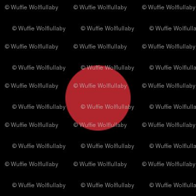 Polk Dots - 0.5 inch (1.27 cm) - Red (#B1252C) on Black (#000000)