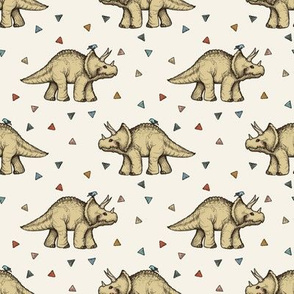 Triceratops and Triangles - small print