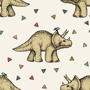 Triceratops and Triangles - large print