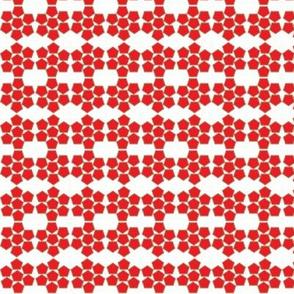 Red Pentagons