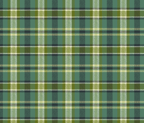 Soothing Celtic Green Plaid fabric by lisakling on Spoonflower - custom fabric