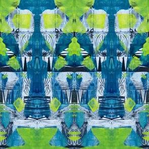 """Blue Green & Chartreuse Zen Pattern"""