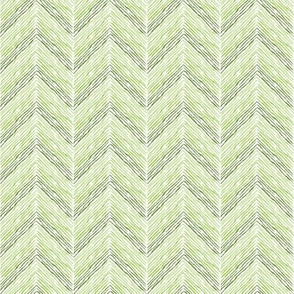 Crayon Chevron Pink Green Colorway