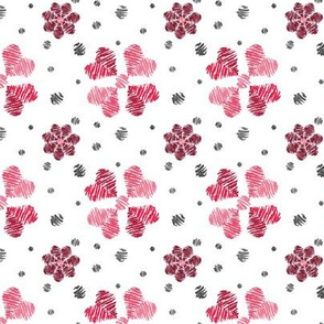 Crayon Flowers from Lady Bugs Red Grey