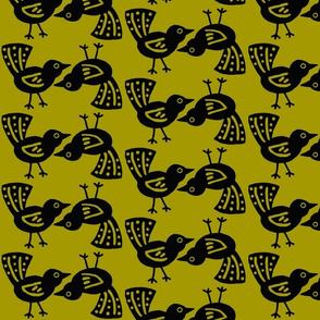 Blackbird Pair - green