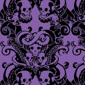 Skull & Tentacle in Hard Lilac