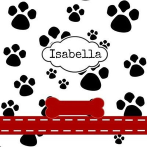 Paw Prints - Tags Personalized