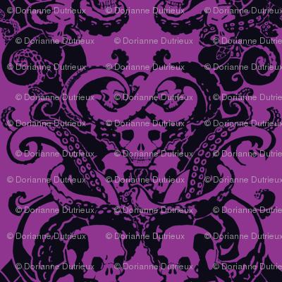 Skull & Tentacle in Hard Neon halfsize
