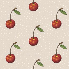 Cherry Handsketch - Kraft Polka