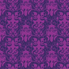 Skull & Tentacle in Divided Purple