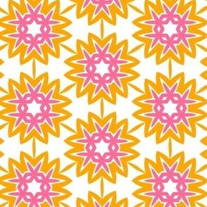 Suzannah orange & pink