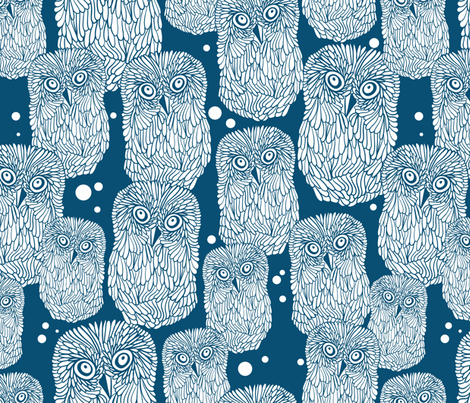 Polar owl pattern fabric by panova on Spoonflower - custom fabric