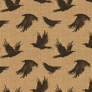 Burlap Crows