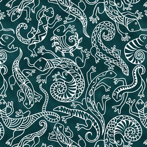 Laconic lithesome lizards!  fabric by vo_aka_virginiao on Spoonflower - custom fabric