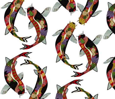 koi white fabric by scrummy on Spoonflower - custom fabric