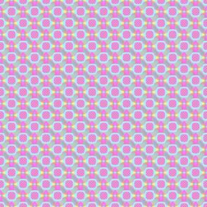 Aqua and Pink Dotted Qbist