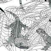 Zentangle Lizards.