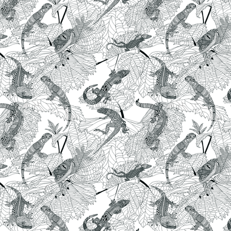 Lizards. fabric by house_of_heasman on Spoonflower - custom fabric